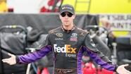 TALLADEGA — Denny Hamlin, the guy still recovering from a fractured vertebra in his lower back, will zip around Talladega Superspeedway at close to 200 mph on Sunday.