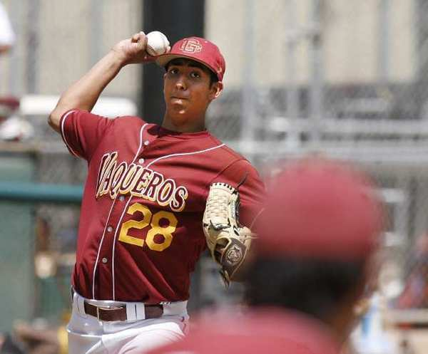 Glendale Community College's Angel Rodgriguez threw a complete game in a win over Grossmont.