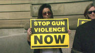 "<span style=""font-size: small;"">A South Bend man affected by gun violence was one of many who stood on the steps of the St. Joseph County Courthouse to raise awareness about gun control.</span>"