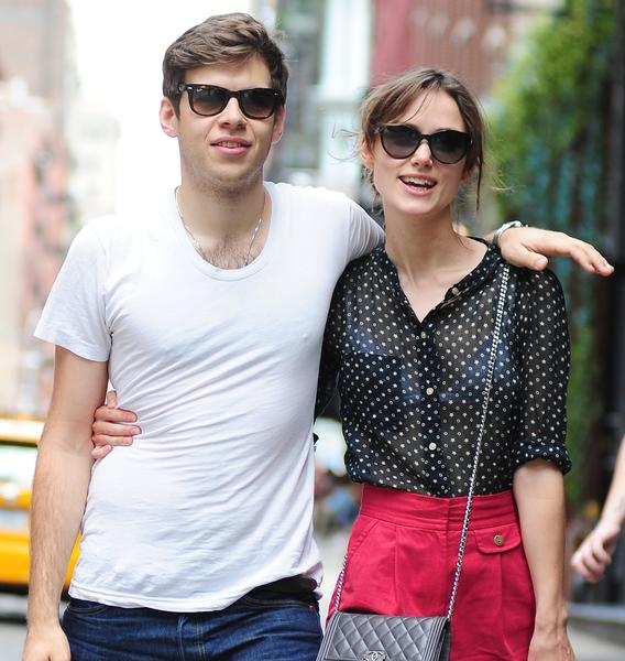James Righton and Keira Knightley are seen in Manhattan on July 31, 2012.