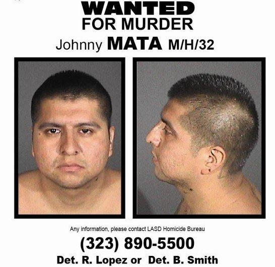 Los Angeles County sheriff's officials released mug shots of Johnny Mata on Friday, nearly a month after he was mistakenly released from County Jail. Mata is facing murder charges.