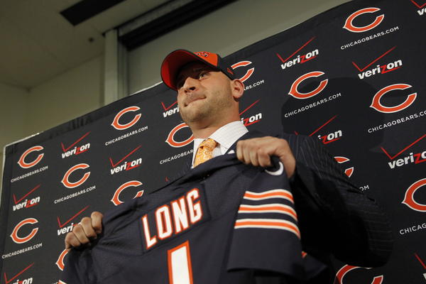 Kyle Long is introduced as the newest Bear at Halas Hall.