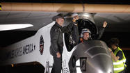"<span>The solar-powered aircraft <a href=""http://www.latimes.com/business/la-fi-0504-solar-plane-trip-20130504,0,142559.story"">making a landmark cross-country flight</a> successfully completed its first leg early Saturday, and will rest about a week in Arizona before taking to the skies again.</span>"