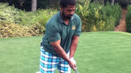 18 holes with ... Jonathan Ogden