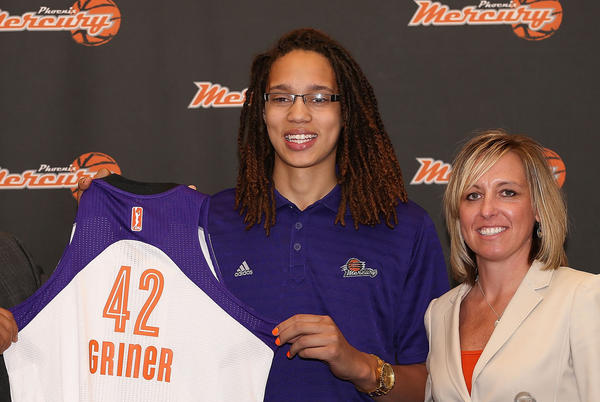 The WNBA will introduce three first-team All-Americans this season, including Brittney Griner who will be joining Diana Taurasi in Phoenix.
