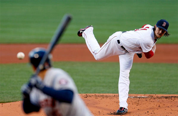 Boston Red Sox pitcher Clay Buchholz is 6-0 with an ERA of 1.01 and has pitched at least seven innings in each of his starts this season.