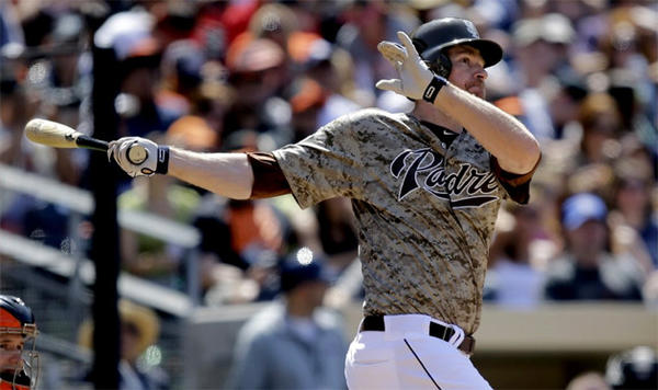 San Diego Padres third baseman Chase Headley is batting .276 with three home runs in 16 games this season.