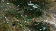 A wildfire in steep forestland in the San Jacinto Mountains has quickly doubled in size to 650 acres.