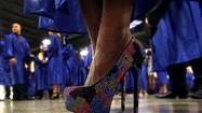 Nearly 1,000 proud graduates walked across the stage toward their bright futures — albeit with the flashiest of footwear.