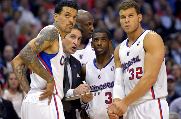Forward Matt Barnes (left) and point guard Chris Paul (3) are free agents while Coach Vinny Del Negro's future is uncertain with the Clippers.