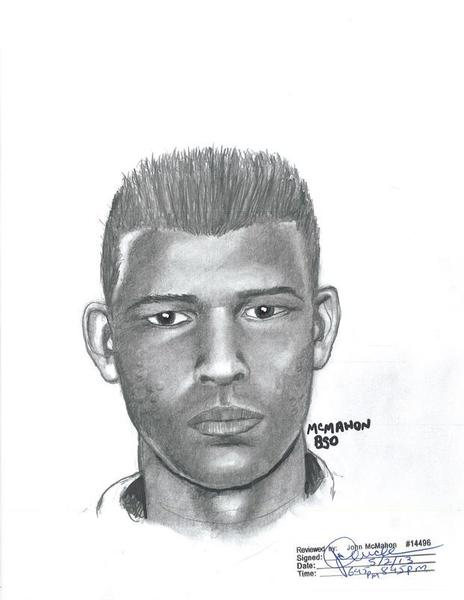A Broward sheriff's sketch of the man who the agency says has been accosting female joggers.