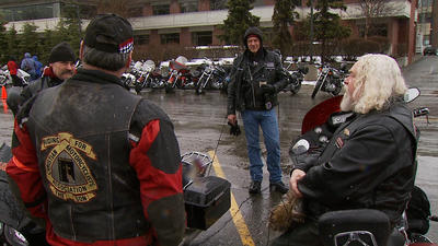 Snowy Morning Preempts Hundreds from Blessing of the Bikes