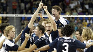 LOS ANGELES — Thundering chants of U-C-I and B-Y-U perhaps might have faded under a more resonant echoes of Dy-Nas-Ty Saturday night as the UC Irvine men's volleyball team earned its second straight NCAA championship and its fourth in seven seasons.