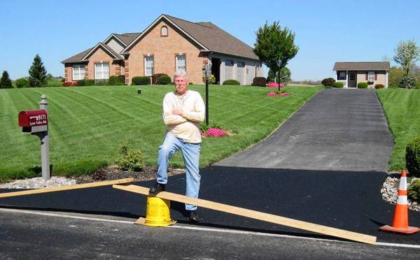Ken Horodenski, of Weisenberg Township, says he had to hire a contractor to pave a section of his driveway so he could get his car out after the state repaved Lyon Valley Road.