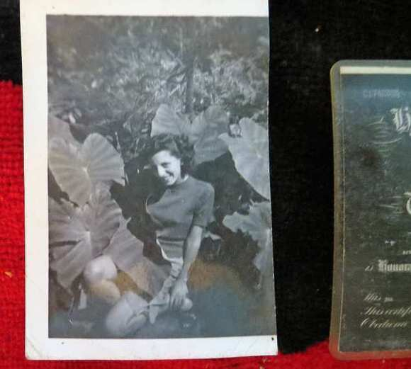 A wallet lost 66 years ago inside a wall of a San Marino home contained this photo of the owner's high school sweetheart. (Courtesy of Thomas Robles / April 11, 2013)