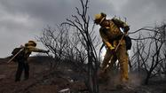 With the Springs fire in Ventura County 60% contained, fire officials on Sunday began releasing crews deployed from across California and neighboring states to battle the 4-day-old blaze that burned large swaths of rugged mountain terrain and forced hundreds to flee their homes.