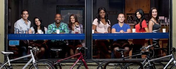 """Real World: Portland"" cast members Jordan (from left), Jessica, Marlon, Averey, Nia, Johnny, Anastasia, and Joi."