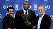 <b>LeBron James</b> won his fourth NBA Most Valuable Player Award, but he wasn't a unanimous choice. <b>Carmelo Anthony</b> received one first-place vote from the media ballots, denying LeBron the opportunity to become the first unanimous MVP in league history. It's the closest we've come to a unanimous choice since 2000, when <b>Shaquille O'Neal </b>received all but one first-place vote. That year, <b>Allen Iverson</b> garnered one vote.