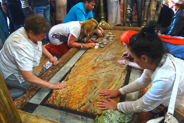 Photos: Visiting the Church of the Holy Sepulcher - Slab