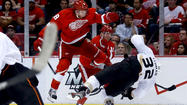 Red Wings-Ducks, Justin Abdelkader, Toni Lydman