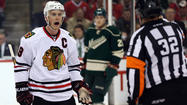 ST. PAUL, Minn. — Three games into the Blackhawks' first-round series against the Wild, the top line of <strong>Jonathan Toews, Marian Hossa</strong> and <strong>Brandon Saad</strong> have a combined one goal and one assist.