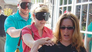 Donning blindfolds and eating without the sense of sight Sunday opened some diners' eyes to the challenges experienced by visually impaired individuals.