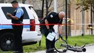A teenage gunman was fatally shot by police Sunday in Chicago's Lawndale neighborhood after he fired at pedestrians and officers, authorities said.