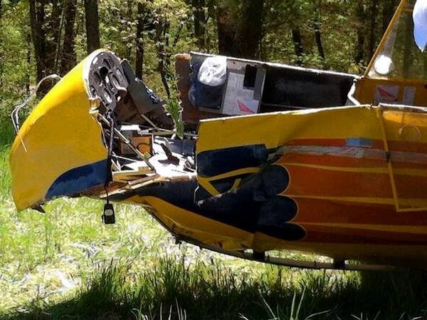 A glider crashed at a Bucks County small-plane airfield Saturday, with its 70-year-old pilot rushed to the hospital due to the injuries he suffered, authorities said.