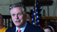 Democratic candidate Terry McAuliffe will be in Richmond Monday.