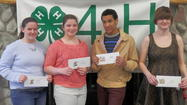 The annual Emmet County 4-H Spring Achievement Days took place on Friday and Saturday, April 26-27, at the community center on the Emmet County Fairgrounds in Petoskey. The event is designed as an opportunity for the county's 4-H members to exhibit their winter projects, experience interview type evaluations and be awarded summer trip scholarships.