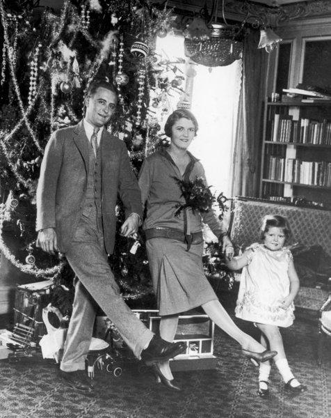 F. Scott Fitzgerald, his wife, Zelda, and daughter, Frances (a.k.a. Scottie), celebrate Christmas 1925 in Paris.