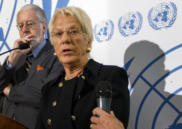Carla del Ponte told a Swiss TV station over the weekend that it was possible that Syrian rebels had used the nerve agent sarin.