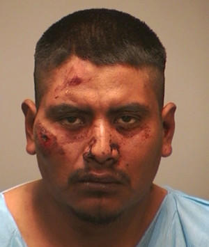 Carlos Santos faces first-degree assault charges after a knife fight late Sunday in New Haven.