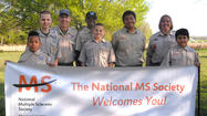 Members of Boy Scout Troop 412 were involved in a service project with the MS Walk at Antietam National Battlefield on April 27.