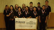 The Penn High School Academic Super Bowl-Social Studies squad is celebrating after winning its fourth straight state title on Saturday at Purdue University-West Lafayette.