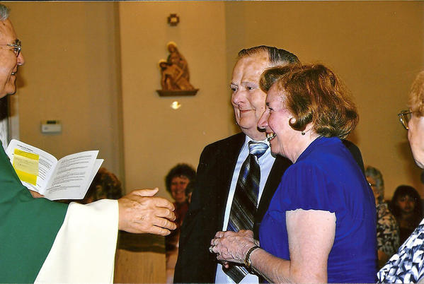 Frank and Pauline Wilson renewed their wedding vows in May of 2010 for their 50th wedding anniversary.