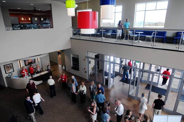 On a typical Sunday, Calvary Church members and visitors enter through the main entrance of the church at 16100 S 104th Avenue, Orland Park.