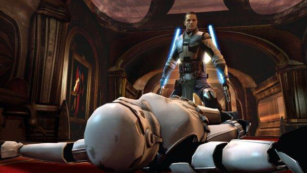 "Screenshot from the video game ""Star Wars: The Force Unleashed 2."""