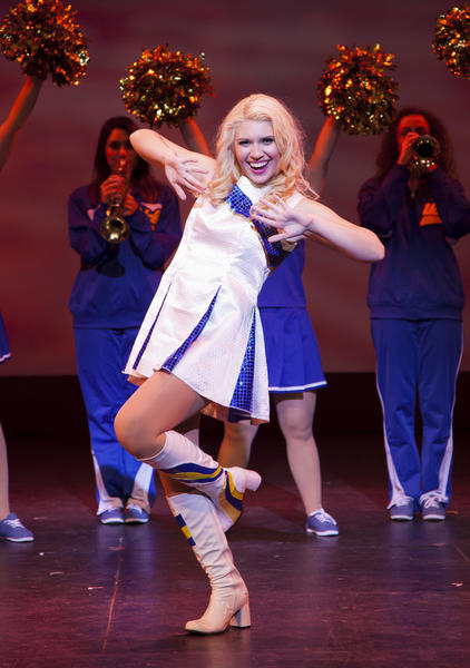 "Nina Ramos stars as Elle Woods in Golden West College's production of ""Legally Blonde."""