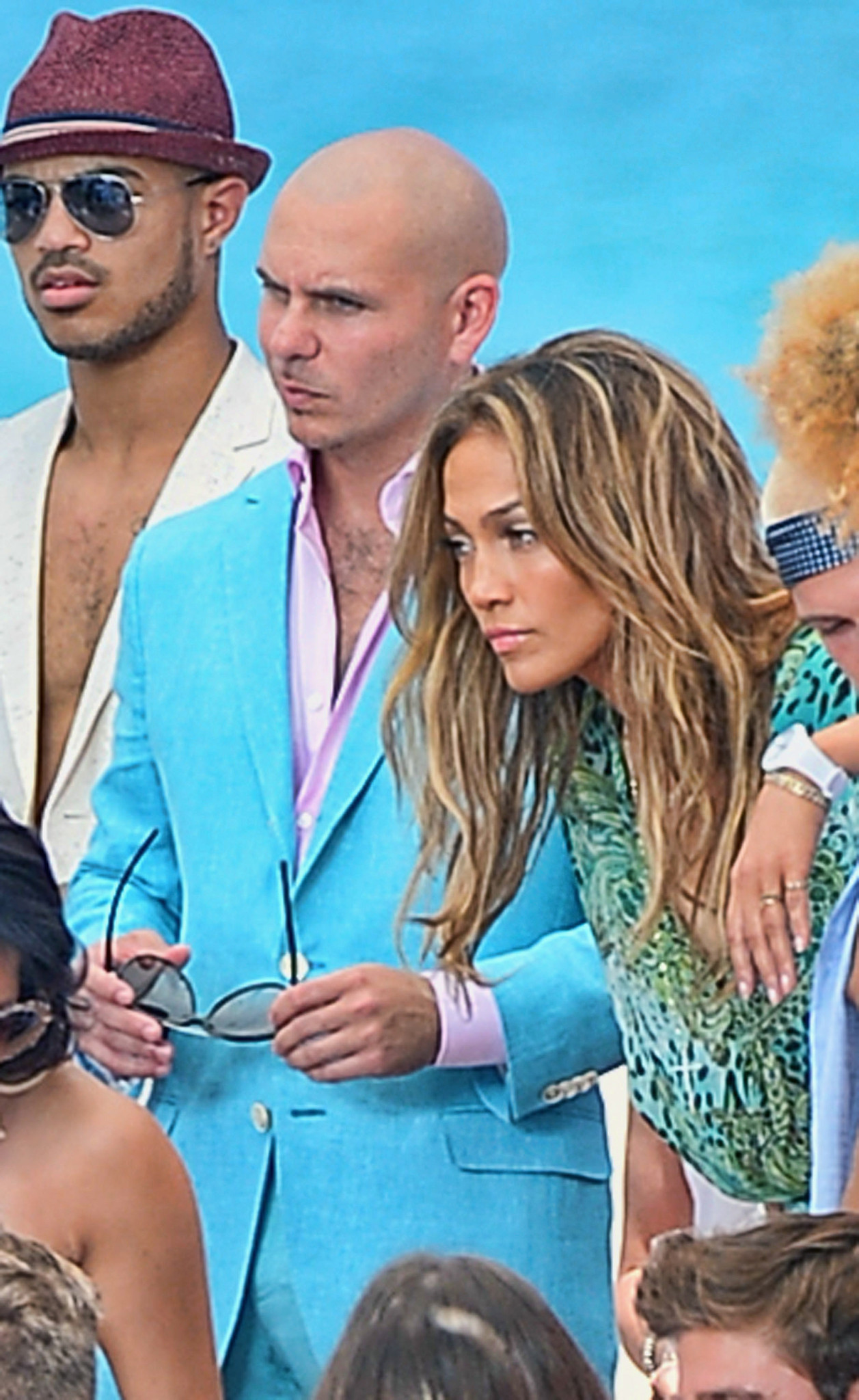 Celeb-spotting around South Florida - Jennifer Lopez And Pitbull Video Shoot In Florida