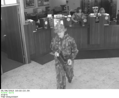 State police said this man entered the First National Bank in Stoystown Monday morning and displayed a note demanding money.