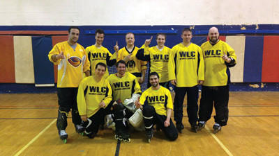 The Wesners Lawn Care team defeated DB Homes to win an indoor hockey league championship.