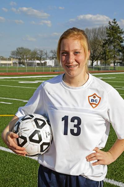 Buffalo Grove junior Kelli Zickert, the team's leading scorer, on May 1, 2013.
