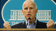 SACRAMENTO -- Gov. Jerry Brown put the state's early wildfire season in global terms Monday, saying the state would have to grow accustomed to more forest fires as a consequence of climate change.