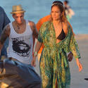Jennifer Lopez And Pitbull Video Shoot In Florida