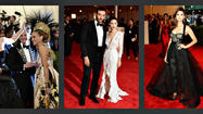 "All eyes in the fashion world were on the Metropolitan Museum of Art's Costume Institute Gala -- aka the Met Ball -- in NYC on Monday. This is the annual event at which celebrities and fashionistas kick it up a notch and wear their most dramatic looks. Actresses Jennifer Lawrence and Sarah Jessica Parker shared a laugh on the red carpet (perhaps about Parker's Gatsby-esque headpiece?), while co-chairs Riccardo Tisci and Rooney Mara seemed to be dead serious. Mara's frilly white gown betrayed the theme of this year's fashion exhibition, ""Punk: Chaos to Couture,"" in the silver zippers at the waist. Nina Dobrev wore a more elaborate take on the theme in her corseted sweeping black dress. Kim Kardashian wore a floral Risci gown with matching gloves, which led to a disturbing sense that she was missing her hands as they blended in with the dress. To see what I mean, and for more photos from the event, see our <a href=""http://www.latimes.com/entertainment/envelope/fashion/la-the-met-ball-2013-fashion-highlights-photos,0,3522586.photogallery"">photo gallery</a>."