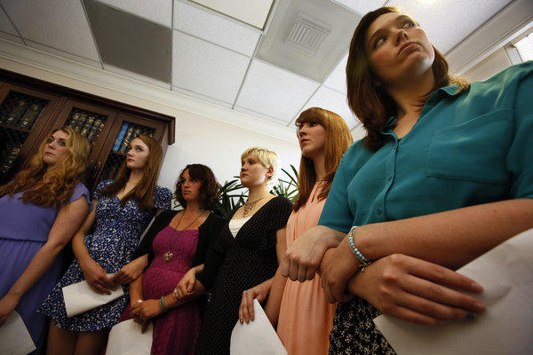 At a recent news conference, women alleged that they were sexually assaulted when they were students at Occidental College. They filed a federal civil rights complaint.
