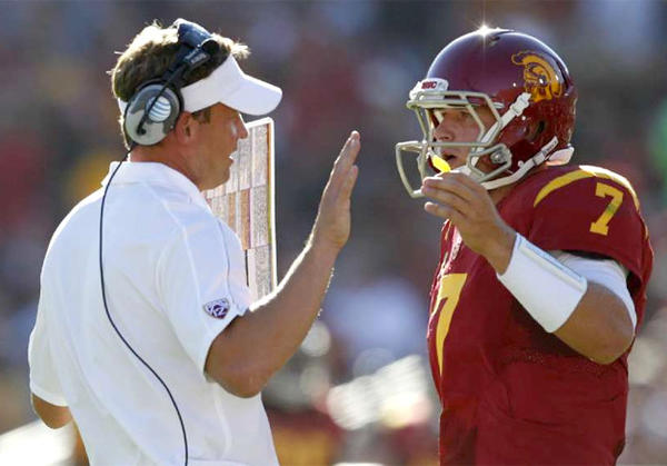 USC Coach Lane Kiffin wasn't shocked that quarterback Matt Barkley was drafted by the Philadelphia Eagles.