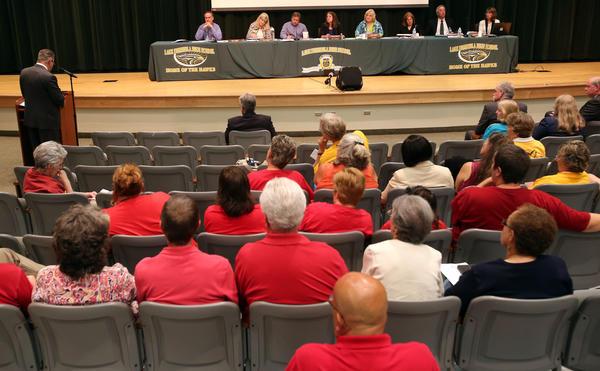 Lake County School Board meeting at Lake Minneola High School, on Monday, May 6, 2013.