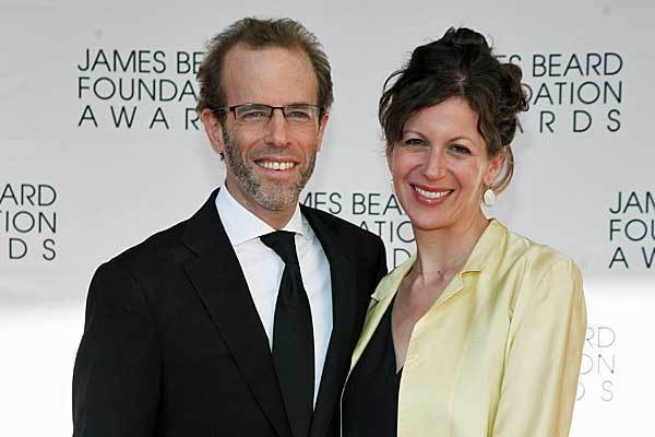Dan Barber and his wife, Aria Beth Sloss, arrive at the James Beard Foundation Awards Gala. Barber's restaurant, Blue Hill, was named restaurant of the year.